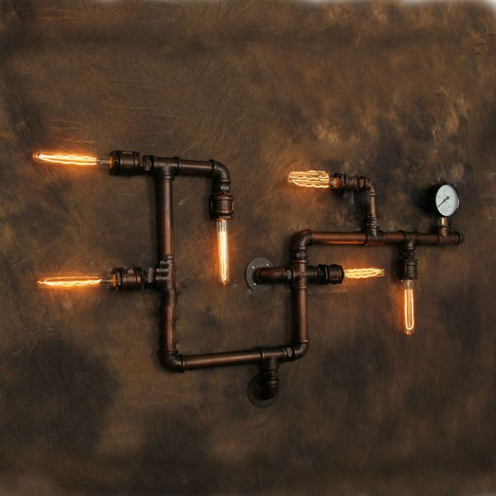 lighting industrial look. Modernist Vintage Pipe Wall Lamp TheVintage Is Apart Of The Edison Lighting Collection Inspired By Industrial Look