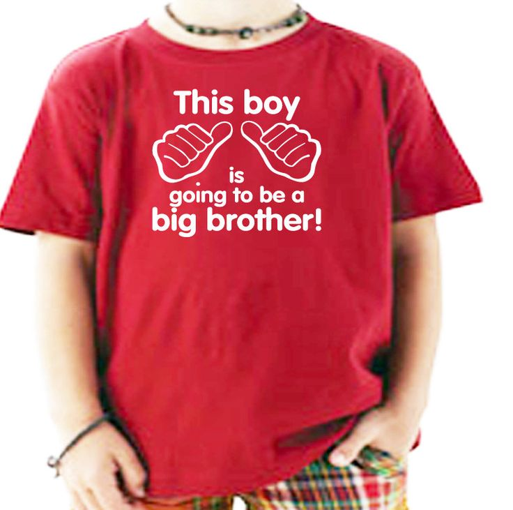 Big Brother Big Bro Little Sister Little Sis Childrens Kids T-Shirt. Boy Shirt Teen Teenager Big Brother Siblings. $12.75, via Etsy.