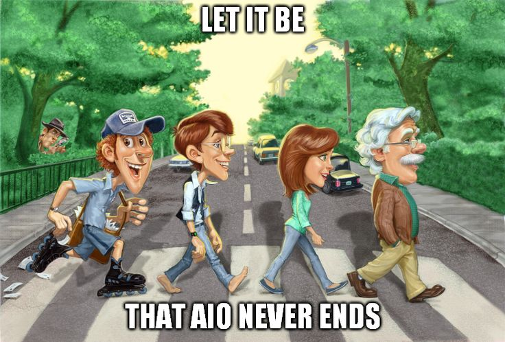 Credit: bookworm   Adventures in Odyssey meme   The Beatles   Abbey Road   Whit's End