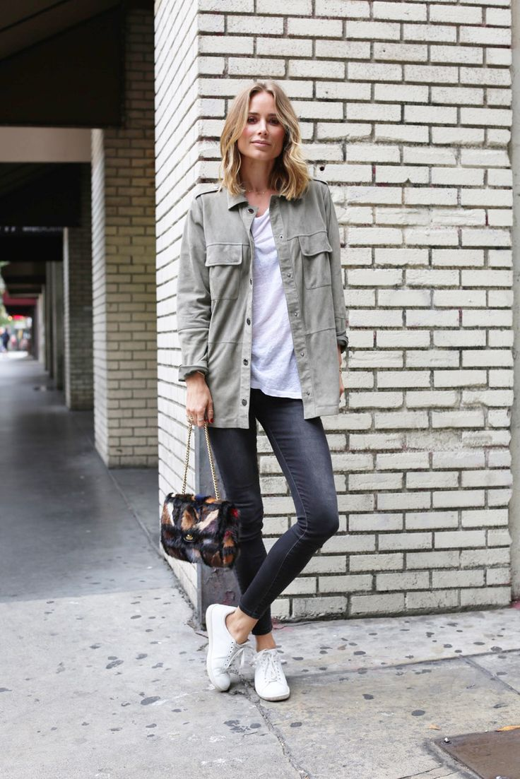 ANINE BING OUTFIT CHANEL DENIM SUEDE SHIRT