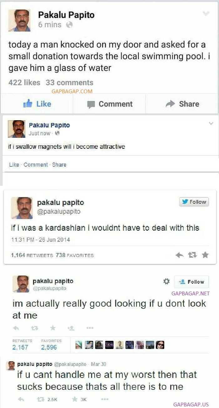 Top 10 Funny Tweets By Pakalu Papito