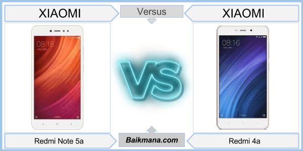 Xiaomi Redmi Note 5a vs Xiaomi Redmi 4a