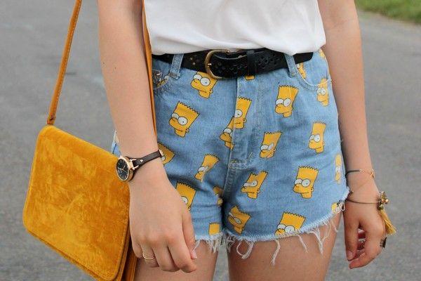 Bart Simpson short #simpson #summer #fashionblog