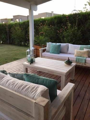 sillones de madera quebracho 2 x 0,90 m exterior o interior