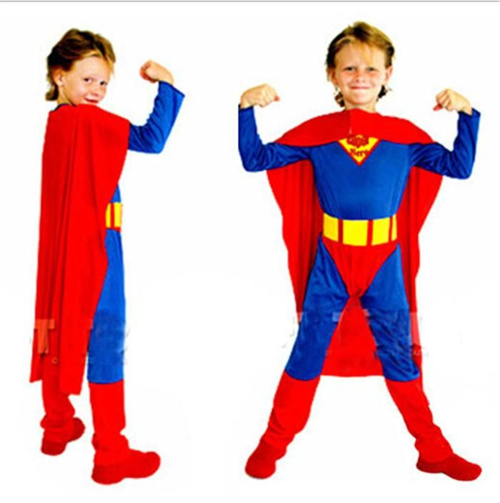 Best Quality New Children Halloween Clothes Superman Costumes For Kids Boys Classic Superman Hero Costumes Set/Jump Suit+Cape+Belt Hc57 At Cheap Price, Online Theme Costume | Dhgate.Com