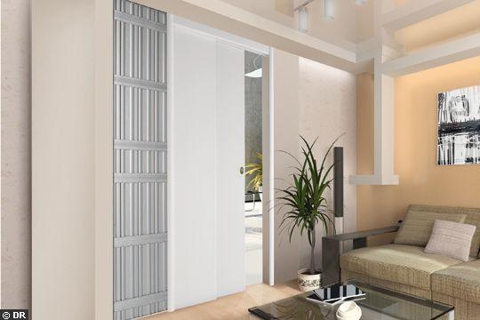 Double porte coulissante automatique - Des photos de portes coulissantes pour gagner de la place - CôtéMaison.fr