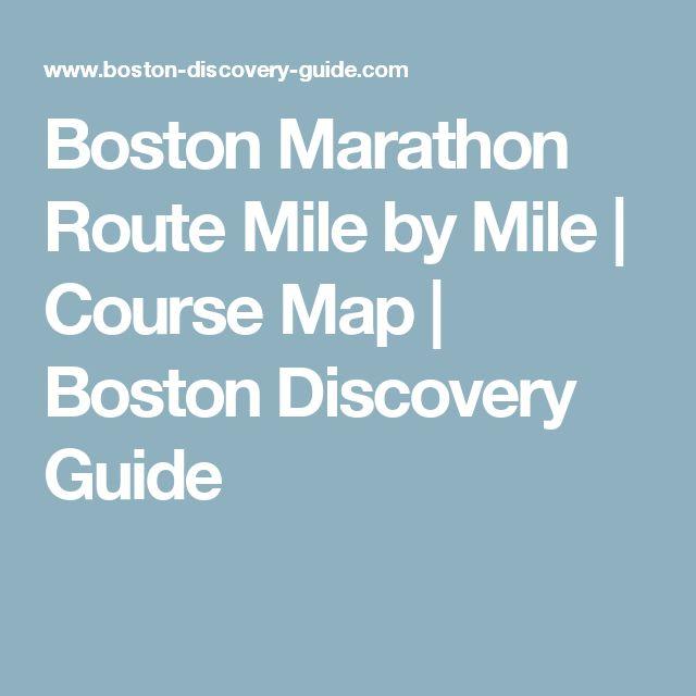 Boston Marathon Route Mile by Mile | Course Map | Boston Discovery Guide