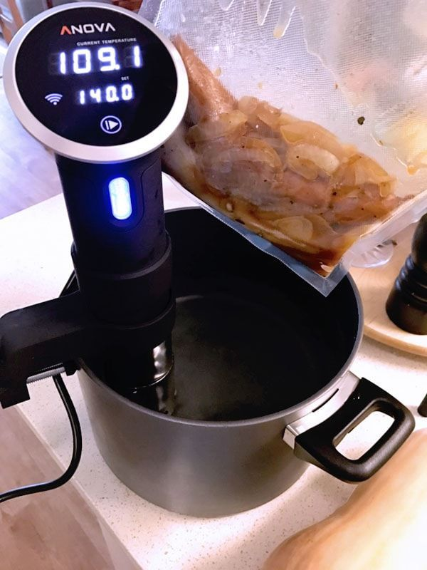 EVERY HOME CHEF NEEDS ONE. Sous vide equipment like this Anova Culinary Precision cooker. See the full list of sous vide equipment machines. It's the way to slow cook perfect steak every time.