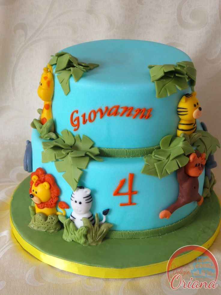 Torta giungla   Jungle cake  http://blog.giallozafferano.it/crociedeliziedioriana/2015/05/torta-giungla.html