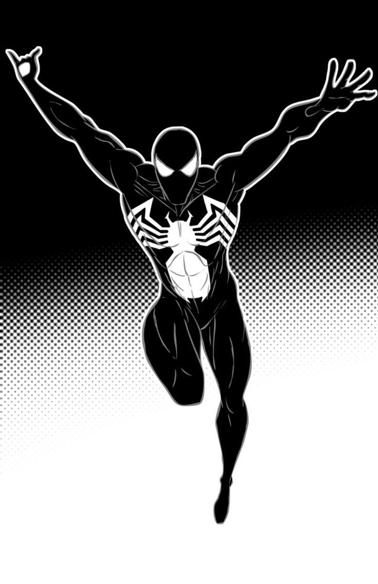 Spiderman Black Suit by Thuddleston.deviantart.com on @deviantART