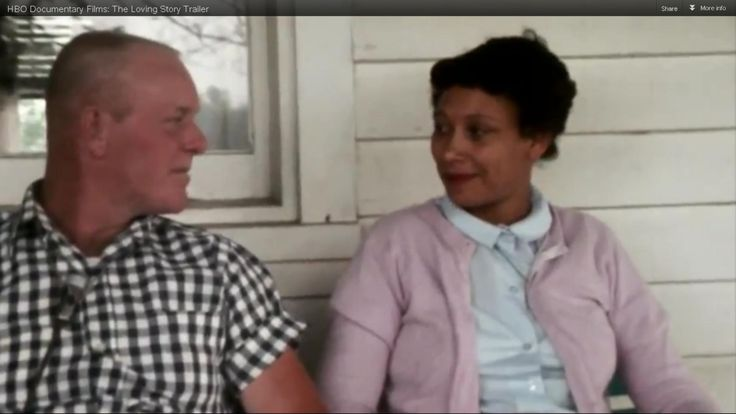 Richard and Mildred Loving, screen capture photo from HBO documentary,