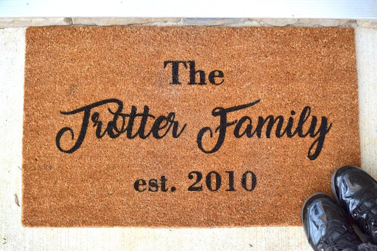Last Name Personalized Doormat For The Home Pinterest