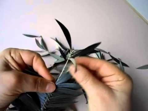 ▶ Realizzare palma intrecciata di ulivo. Angela - YouTube