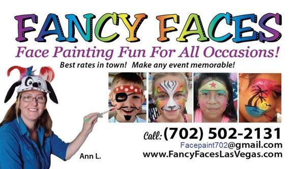 Face Paint Business Card Business Card For Facepainter Facepainter Biz Card Painted Business Cards Face Painting Face