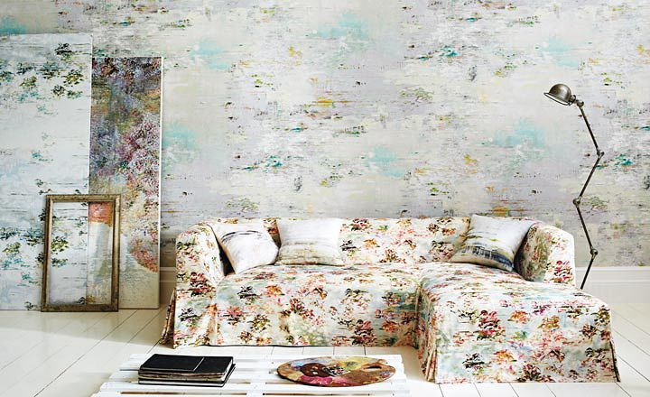 'Desire' by Jessica Zoob. Wallcoverings and upholstery fabrics by Romo Black Edition