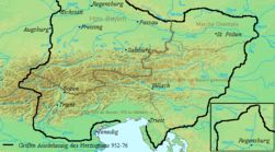 The Duchy of Bavaria in the 10th Century.