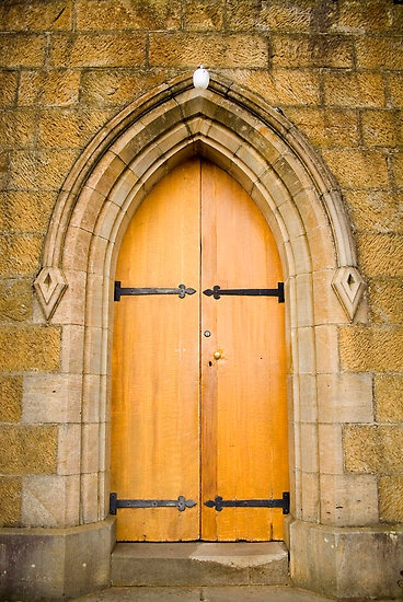 St.Johns Church Door Richmond Tasmania...found a moment with GOD in this beautiful Church...