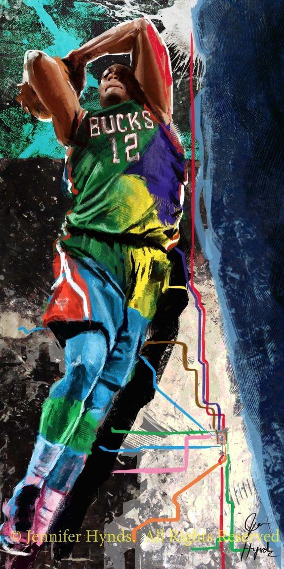 Jabari Parker 'Next Stop' Painting