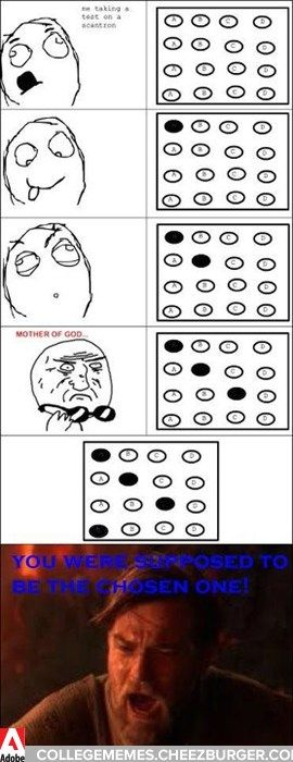 """OCD Test Taking, gotta love scantron! """"Did you get a lot of D's? I got a lot of D's"""""""
