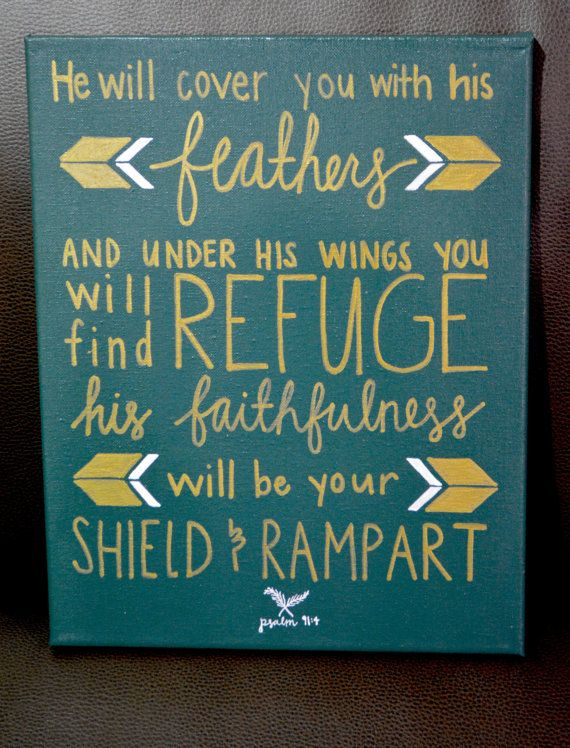 He Will Cover You With His Feathers Psalm 91:4 by paigesofideas