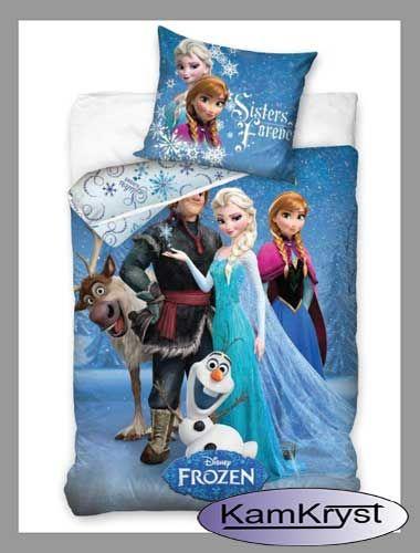 Nowy wzór pościeli z postaciami z filmu Kraina Lodu Disney - pościel dla dzieci i młodzieży 100% bawełna dostępna w rozmiarze 140x200 i 160x200 cm. Pościel idealna dla małych i dużych sympatyków Krainy Lodu.