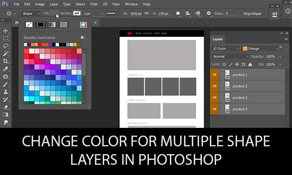 photoshop how to make layer in colour