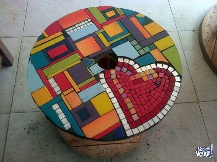 17 mejores ideas sobre mesas en mosaico en pinterest for Mosaico madera pared
