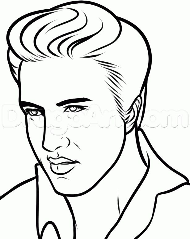 How To Draw Elvis Elvis Presley Step 8 For Mom