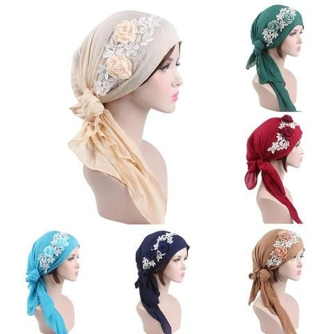 Women India Muslim Stretch Retro Floral Cotton Turban Hat Head Scarf Wrap  Cap hats for women cap women hat summer chapeu 0176fb95f2f