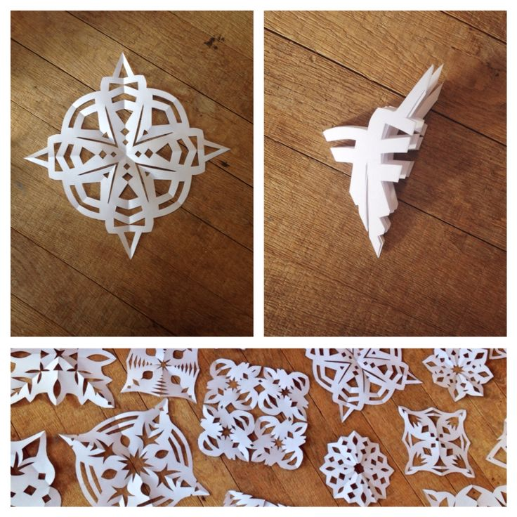 Tutorial - How to make easy cross shaped snowflakes for Christmas ❄️❄️❄️