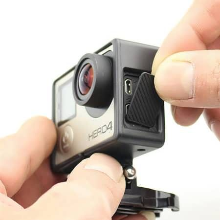 Replacement USB Side Door Cover Case Cap Repair Part For GoPro Hero 3 3 Plus 4 Black  Features: Use our replacement USB side door cover case for GoPro to easily replace lost or broken side USB and mini HDMI cover Simply pop it on and you are ready to go again, don't leave your USB and mini...