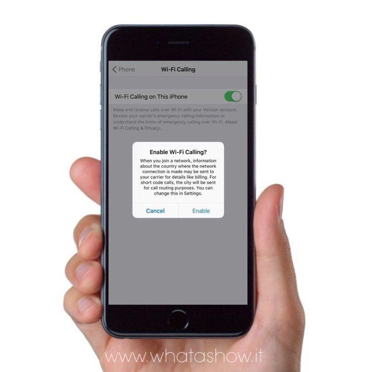 Con iOS 9.3 verrà introdotto il Wi-Fi Calling che permetterà di chiamare e inviare messaggi di testo tramite Wi-Fi anche se la rete ha cellulare è debole o non è disponibile.