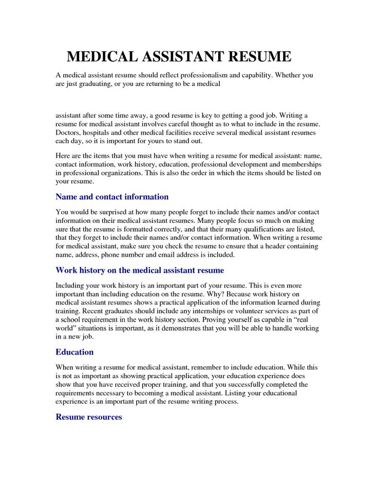 The 25+ best Medical assistant cover letter ideas on Pinterest - sample resume for medical assistant