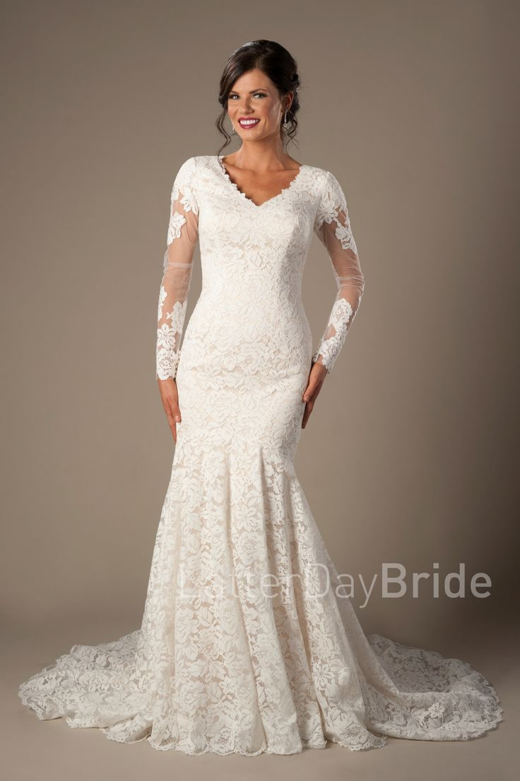 Lds Wedding Dress Stores In Utah : Best ideas about modest lace dress on black