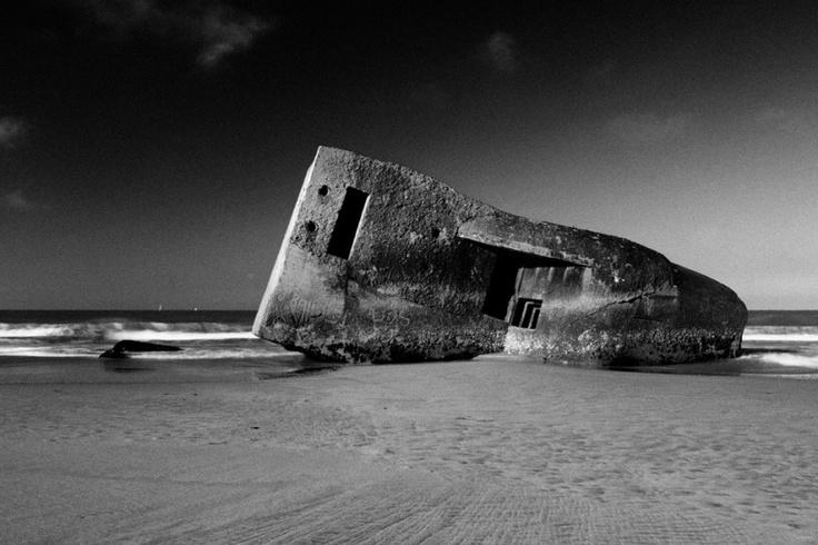 """Plage de la Grande Côte - Blockhaus - Remains of the Atlantic Wall on the beach at """"Saint Palais sur Mer"""""""
