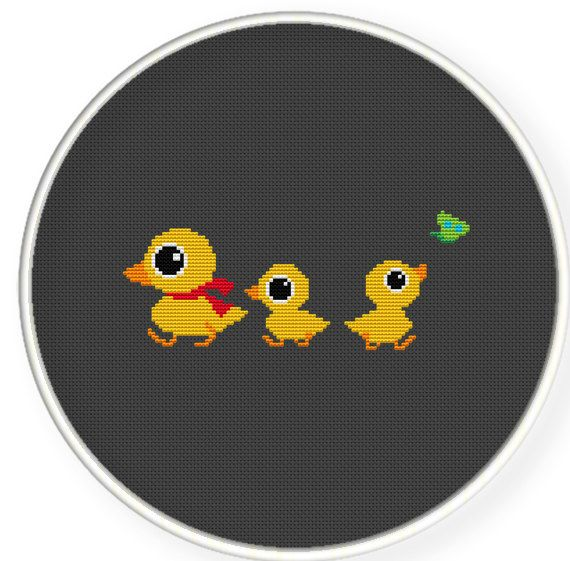 Instant Download,Free shipping,Counted Cross stitch pattern,Cross-Stitch PDF,nursery decor,duck mommy and her babys, zxxc0190 on Etsy, $4.87 AUD