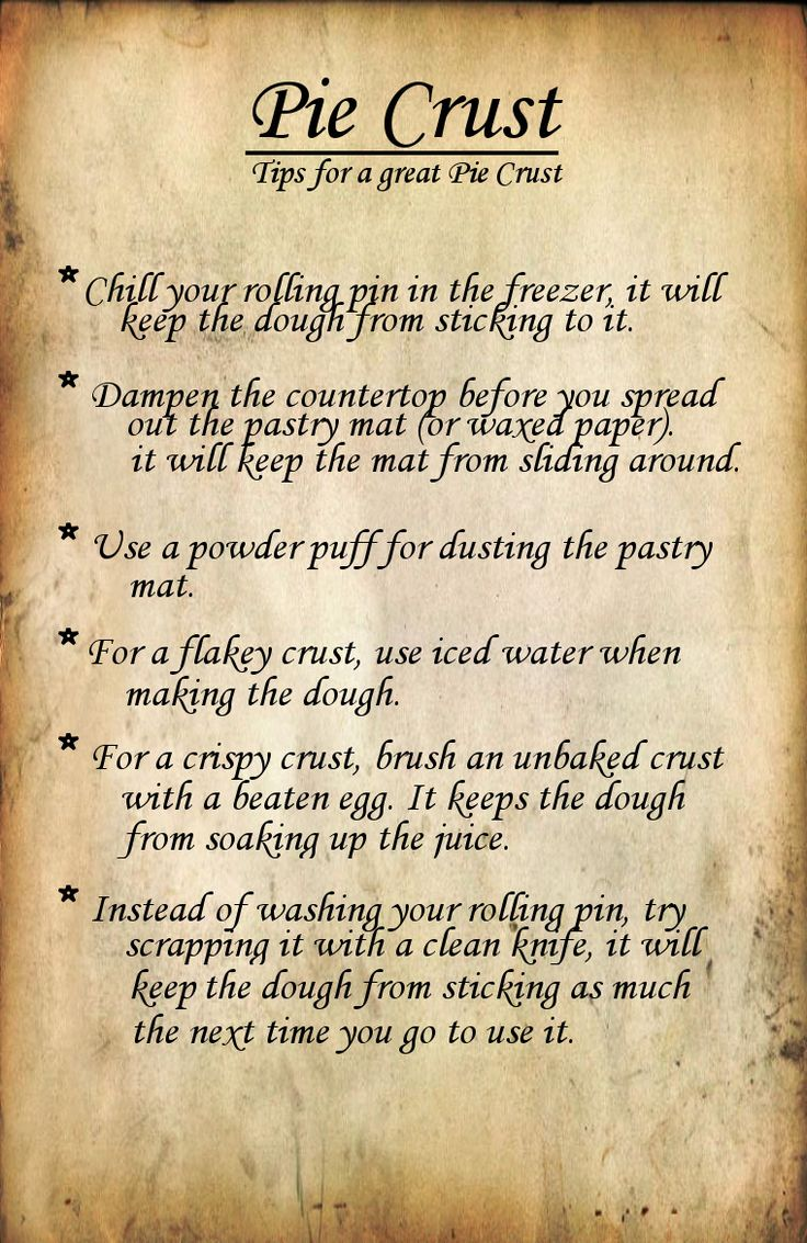 Household Tips: Tips for Making the Perfect Pie Crust   Fluster Buster