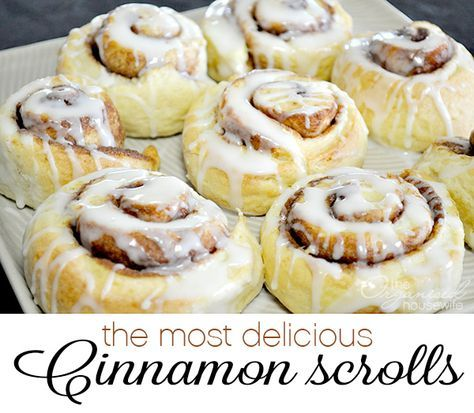 Very easy to make and the most delicious cinnamon scrolls, quick to make as it doesn't include yeast, perfect to bake up for morning tea.