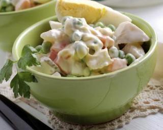 Légumes et mayonnaise légère en salade. Recettes LégèresRecettes  MinceurRecette
