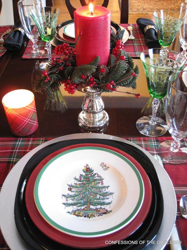 tartans and spode christmas tree china