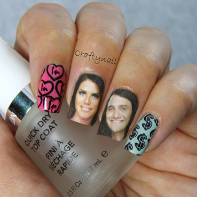 BB15- Big Brother 15 nail art!  Go Amanda and McCrae!!