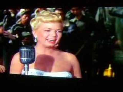 This is Frances Langford singing Chattanooga Choo Choo with the Modernairres in The Glen Miller Story starring Jimmy Stewart.