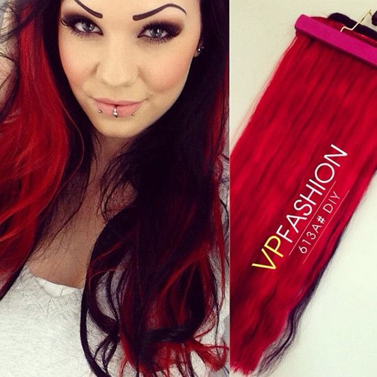 65 best redpink ombre hair styles extensions images on trending red hair looks and ideas with 613a hair extensions pmusecretfo Image collections