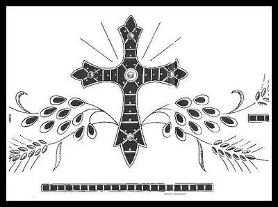 cerco ricamo tovaglia altare