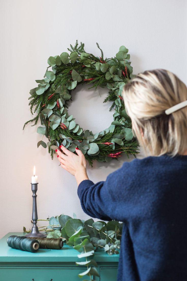 Monthly Makers julkalender – Julkrans med eukalyptus - Anna María