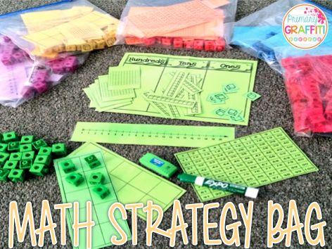 Math Strategy Bag {Freebie}