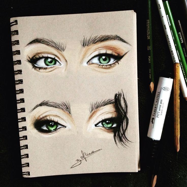 Zhenya Katawa by Zorina V. Illustration, drawing, wip, Prismacolor.