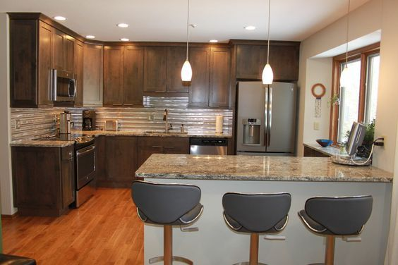 ge slate appliances Kitchen Transitional with ge slate appliances Custom Cabinetry
