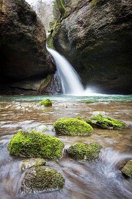 Waterfall in Tösstal, Switzerland