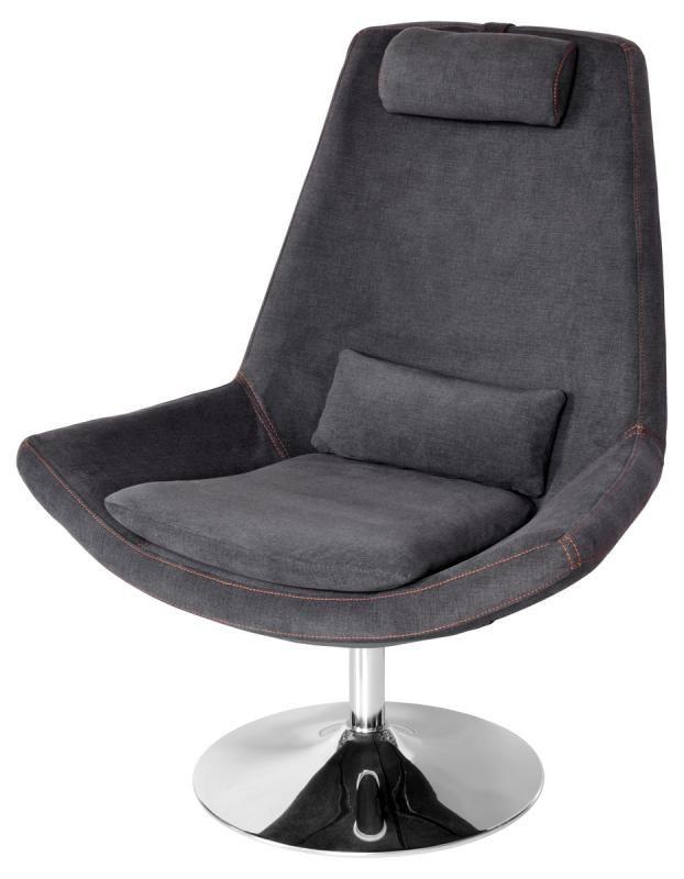 Grey Retro Leisure Swivel Chair / Gaming Seat